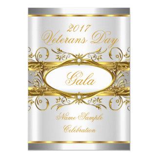 Guld- silvervit och guldplattaparty 12,7 x 17,8 cm inbjudningskort