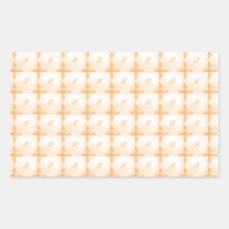 Guld- skugga bakgrundsmallen TILLFOGAR Rektangulärt Klistermärke