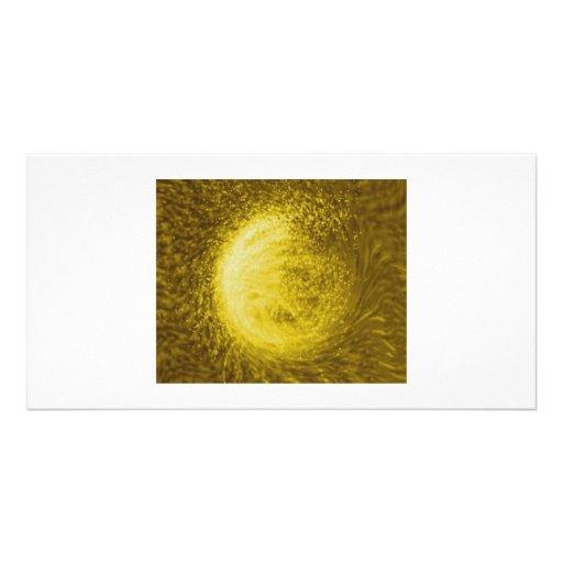 Guld- slummerar fotokort mall
