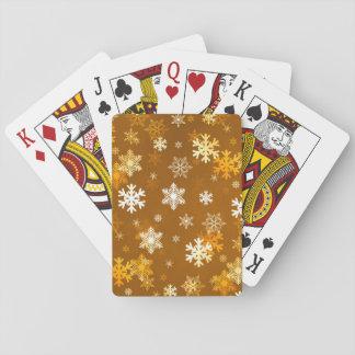 Guld- snöflingor spelkort