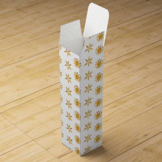Guld- snöflingorPresentask för Vinflaska Vinlåda
