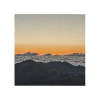 Guld- soluppgång på Haleakala Trätavla