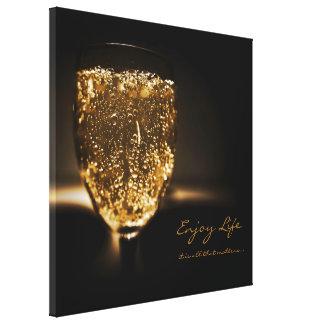 Guld- Sparkling för inspirera Canvastryck
