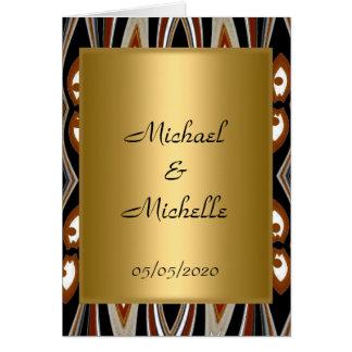Guld- stam- inbjudan för bröllop hälsningskort