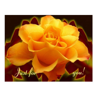 Guld- steg på det stylised löv vykort
