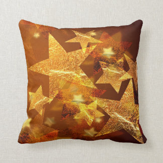 Guld- stjärna kudde