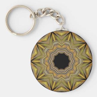 Guld- stjärna rund nyckelring