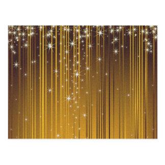 Guld- stjärnor vykort