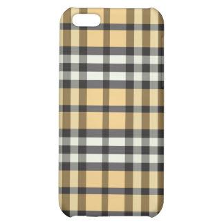 Guld/svart pläd Pern iPhone 5C Skal