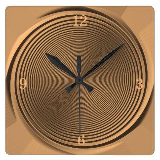 Guld/svarten virvlar runt design>Wall tar tid på Fyrkantig Klocka