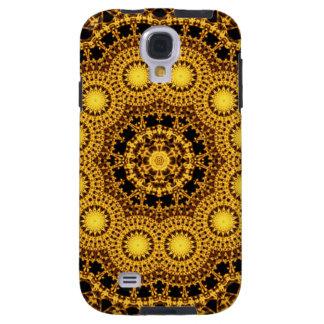 Guld- symmetriMandala Galaxy S4 Fodral