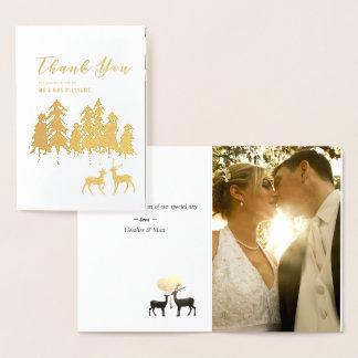 Guld- tack för foto för bröllop för folierat kort