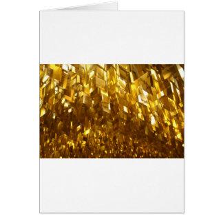 Guld- takabstraktkonst hälsningskort