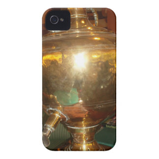 Guld- teakruka Case-Mate iPhone 4 fodral