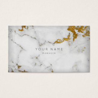 Guld- tidsbeställning för Vip för vitgråttmarmor Visitkort