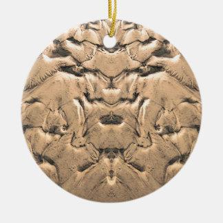 Guld- tidvattens- Sands Julgransprydnad Keramik