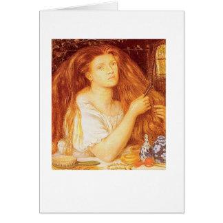 """""""Guld- Tresses"""" vid Dante Gabriel Rossetti Hälsningskort"""
