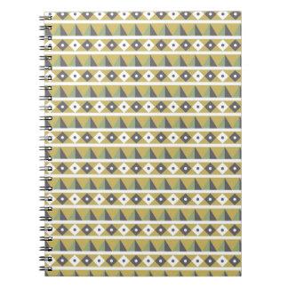Guld- trianglar anteckningsbok med spiral