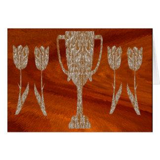 Guld- TROFÉ: Utmärkelsebelöningfirande Hälsningskort