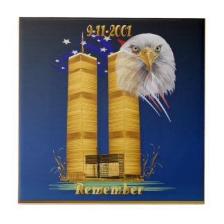 Guld- tvillingbröder, flagga för örn n kakelplatta