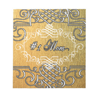 guld- typografimors dag för mamma #1 anteckningsblock