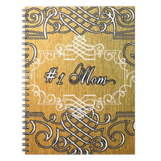 guld- typografimors dag för mamma #1 anteckningsbok