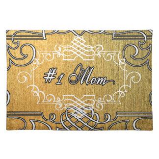 guld- typografimors dag för mamma #1 bordstablett