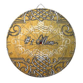 guld- typografimors dag för mamma #1 dart tavlor