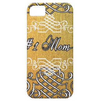 guld- typografimors dag för mamma #1 iPhone 5 Case-Mate skydd