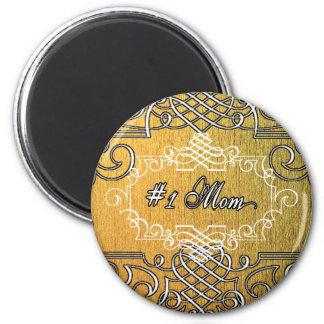guld- typografimors dag för mamma #1 magnet