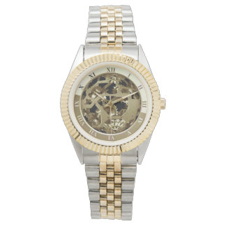 Guld- utrustar armbandsur
