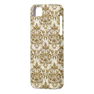 Guld- vintagedamast för elfenben barely there iPhone 5 fodral