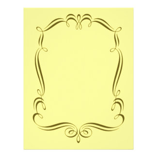 Guld virvlar runt papper för ramdesignscrapbooken brevhuvud