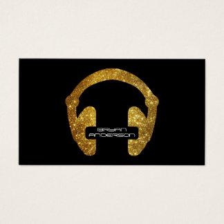 Guld- visitkort för glitterHeadphoneDJ
