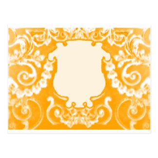 Guld- vit för platta de MUSEUMZazzle gåvorna Vykort