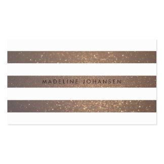 Guld- vit görar randig hårstylistvisitkortar set av standard visitkort