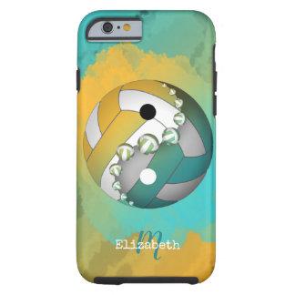 guld- yinyangvolleyboll för turkos henne som är tough iPhone 6 fodral