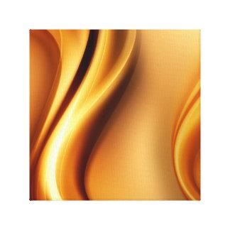 Guldabstrakt vinkar canvastryck