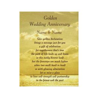 Guldbröllopårsdagkanfas Canvastryck