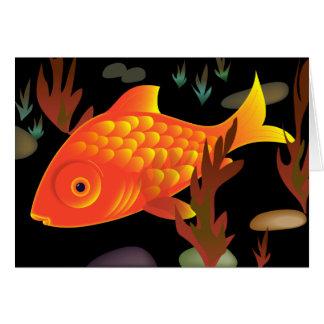 Guldfisk djupt hälsningskort