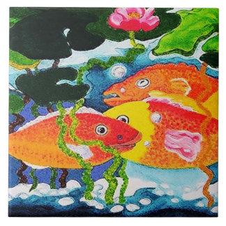guldfiskdamm kakelplatta