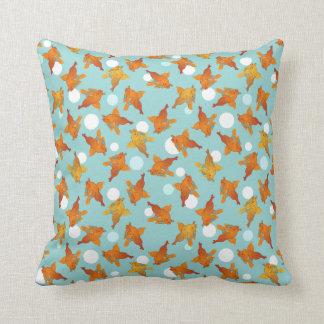 Guldfisken och bubblar det grafiska mönster kudde
