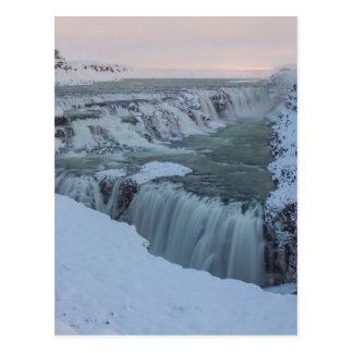 Gullfoss vattenfall i island vykort