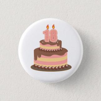 Gullig 18th födelsedag för rosor och för gult mini knapp rund 3.2 cm
