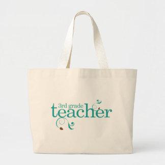 Gullig 3rd klasslärare jumbo tygkasse