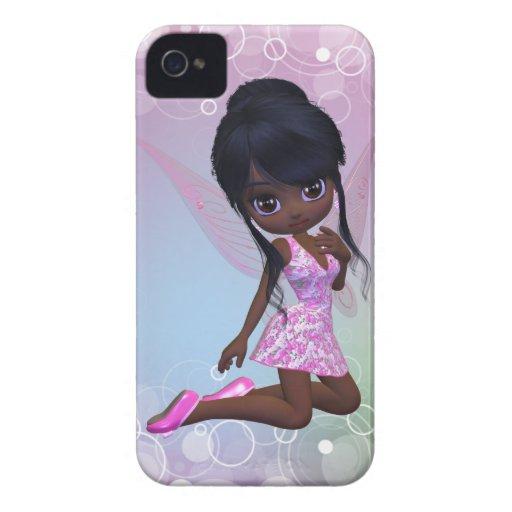Gullig afrikansk amerikanflickablackberry fodral iPhone 4 skydd