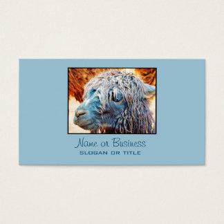 Gullig Alpacababy i blått Visitkort