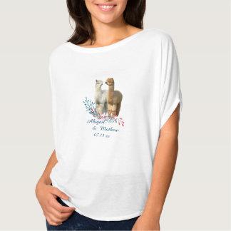 Gullig AlpacalandsbyggsbröllopT-tröja Tee Shirt