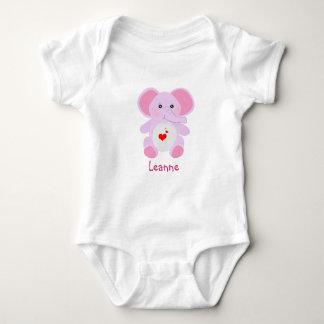 gullig baby shower för flicka för rosabebiselefant tee shirt
