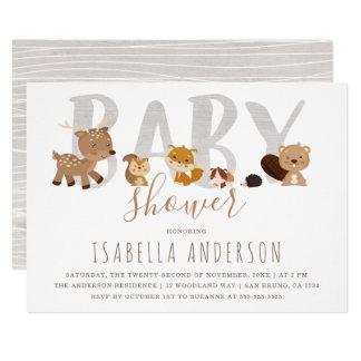 Gullig baby shower för neutralt för gender för 12,7 x 17,8 cm inbjudningskort